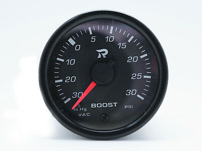 45mm Boost Gauge PSI Scale - Miniature Turbo Gauges Meter Electrical White LED • 51.90£