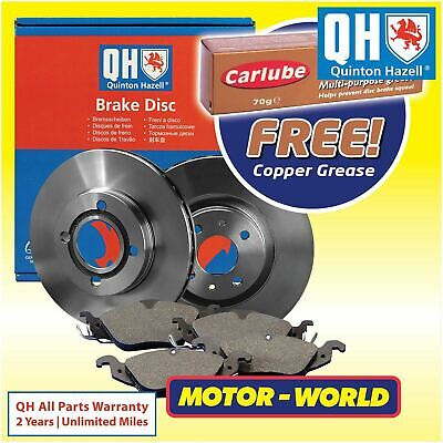Genuine QH Front Brake Disc & Pads And Disc Set Fits Vauxhall X2 Pad X4 20012013 • 49.99£