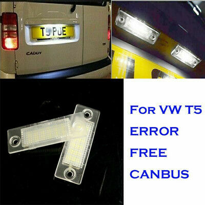 LED License  Number Plate Lights For VW T5 Golf Passat Caddy Touran Jetta • 12.50£