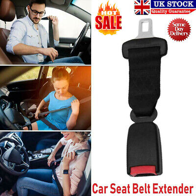 23cm Car Seat Belt Extender Auto Plug-in Safety Extension Buckle Seatbelt Black • 7.19£