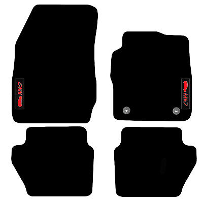 Mats For Ford Fiesta MK7 2012 To 2017 Tailored Carpet Car Floor Logo (2 Clips) • 18.99£