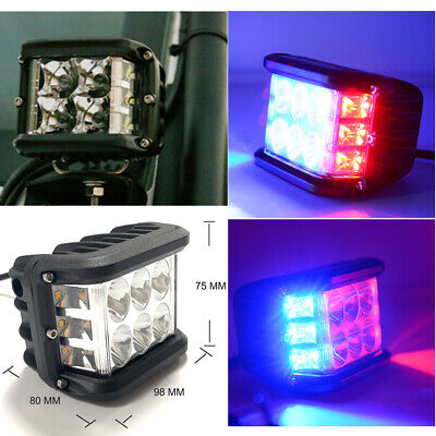 4  Cube Pods LED Side Shooter Warning Strobe Flashing Breakdown Recovery Lights • 46.99£
