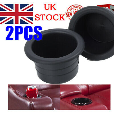 Black Cup Water Drink Holder Recessed Insert For RV Car Marine Boat Trailer UK • 7.88£