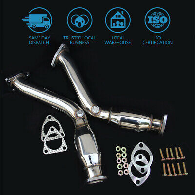 2.25  Twin Decat Pipes Exhaust For Nissan Fairlady 350z Z33 3.5 Vq35de Engine • 99£