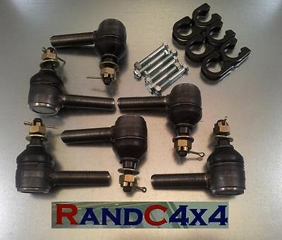 Land Rover Series 3 Steering Track Rod End Ball Joint Set With Clamps & Bolts • 38.50£
