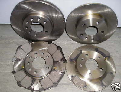 Mk2 ZAFIRA FRONT AND REAR BRAKE DISCS AND PADS 1.6 & 1.8 2005>>NEW COATED DESIGN • 75.95£