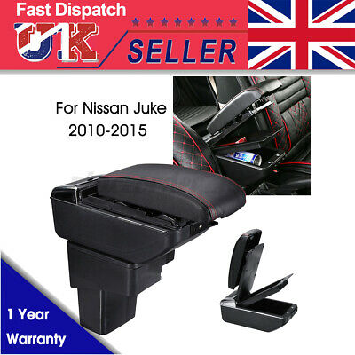 Centre Console Armrest Box Black To Fit For Nissan Juke (2010-2015) UK • 26.39£