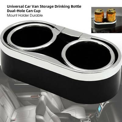 Universal Dual Hole Seat Cup Holder Drinking Bottle  Can Mug Stand Car Storage  • 8.12£
