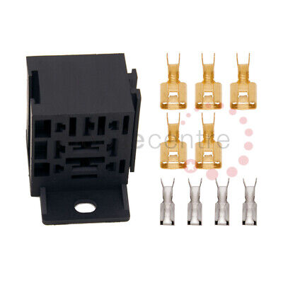 Relay Base Interlocking Holder With Mounting Bracket Terminals For 4 Pin Relays • 3.24£