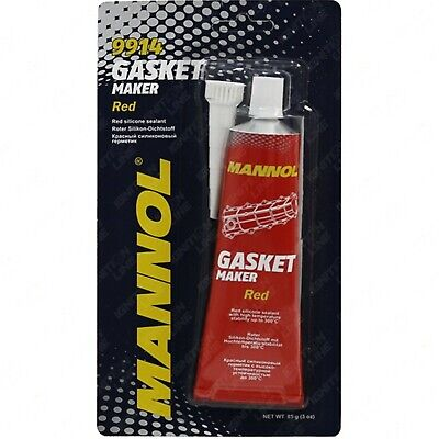 Mannol Red Gasket Maker Tub High Temperature RTV Sealant 85g • 3.99£