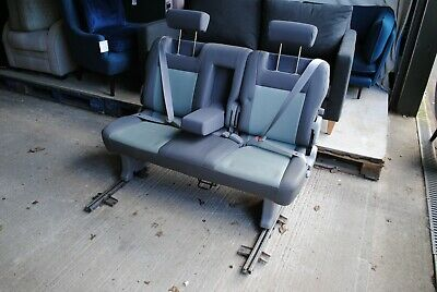VW T4 T5 TRANSPORTER CARAVELLE REAR BENCH SEAT BED With Belts INKA INCA • 249.99£
