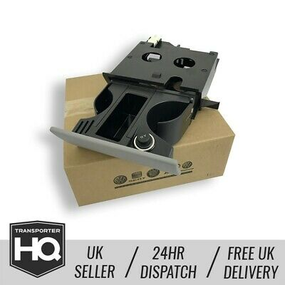 VW T5 Genuine Cup Front Holder / Ash Tray With 12v Charger • 59.99£