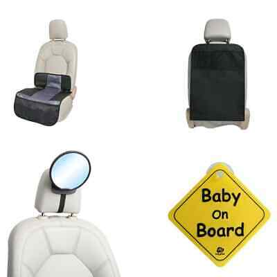 A3 Baby & Kids Baby Car Accessories Set 4 Pieces Black Baby On Board Sign • 29.28£
