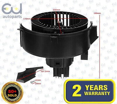 Heater Blower Motor Fan 13333050, 1845134 For Opel/vauxhall Zafira B, Zafira Mk2 • 42.99£