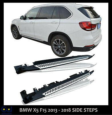 Side Steps Running Boards For Bmw X5 F15 Oe Style New Aluminium With Bolts • 109.99£