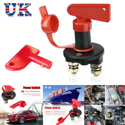 Universal 12V Battery Isolator Switch Cut Off Kill Switch Car Boat Van Truck UK • 8.35£