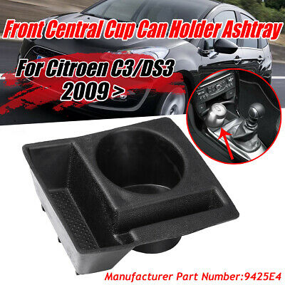 For Citroen C3/DS3 ABS Front Central Cup Holder / Ashtray. 9425E4 Black UK  • 9.42£