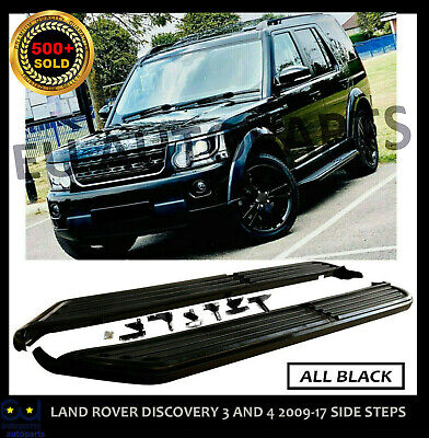All Black Stealth Side Steps Running Boards Land Rover Discovery 3 And 4 2009-17 • 139.99£