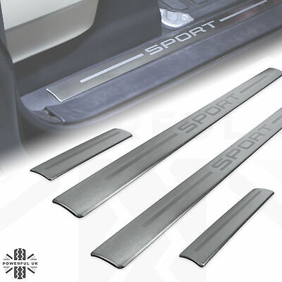 Door Step Tread Plate Sill Insert 'SPORT' For Range RoverL320 Brushed Metal  • 35£