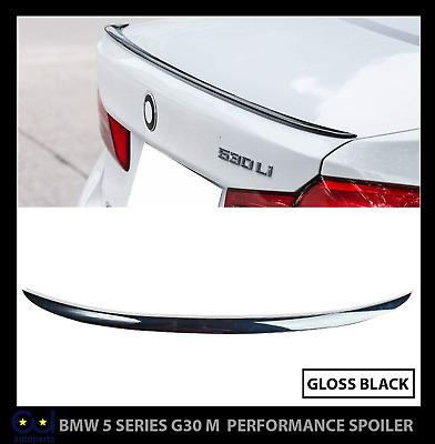 Bmw 5 Series G30 M Sport Performance Rear Boot Trunk Lip Spoiler Gloss Black Uk • 44.99£