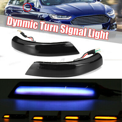 For Ford Focus MK2 MK3 Mondeo MK4 Dynamic LED Side Wing Mirror Indicator Light • 21.99£