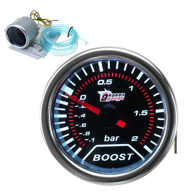 2'' 52mm Turbo Boost -1 To 2 Bar Led Pressure Pointer Gauge Meter Dials Smoked  • 15.58£