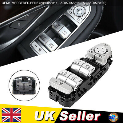 Window Switch Regulator For Mercedes C Class W205 2014-glc 2019 Black Uk • 24.99£