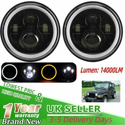 LED Headlights 7  Lamp Turn Signal DRL For Land Rover 90/110 Defender 200 Tdi • 34.94£