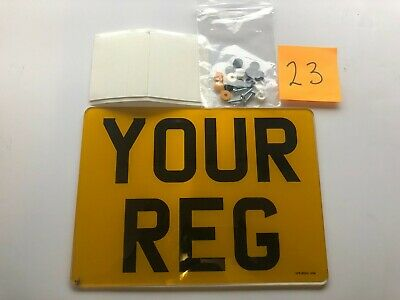 Single 9  X 7  Bike Road Legal 2D Number Plate Printed Top Quality Free Post • 7.99£