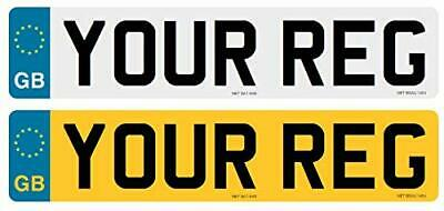GB EURO Pair Of Road Legal 2D Number Plates Printed Top Quality Free Post • 10.99£