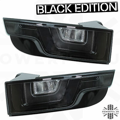 Black LED Rear Lights For Range Rover Evoque Smoked Tinted Back Tail Lamps Lens • 250£