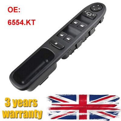 Electric Master Window Control Switch 6554KT Driver Side For Peugeot 307 SW CC • 12.79£