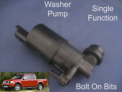 Front Windscreen Washer Pump Fits Nissan Navara Pick Up D40 2005 Through To 2013 • 12.96£