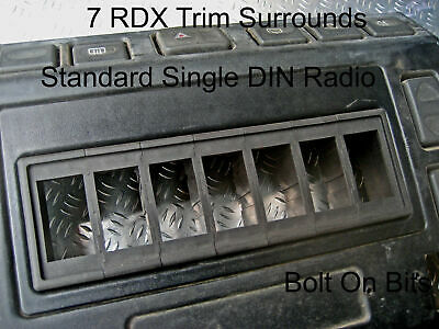 7 RDX K Switch Trim Surrounds Panel Defender Dashboard Single DIN Radio Size • 19.99£