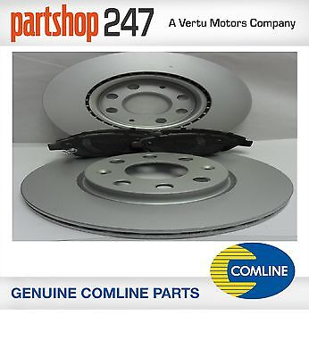 Comline FOR Vauxhall Corsa D 1.2 1.4 Vented Brake Discs And Pads 2006-2013 • 38.95£
