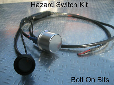 Hazard Flasher Relay Red Warning Switch Wiring Kit Trike, Kitcar • 14.99£