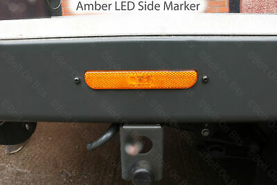 Amber LED Side Marker For Ford Transit Scattolini Dropside Tipper Chassis 2014+ • 14.99£