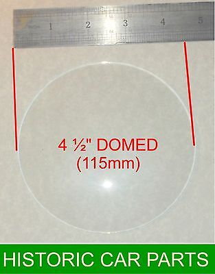 """TRIUMPH TR2 1953-55 - DOMED Speedometer Or Rev Counter Glass 4½"""" (115 Mm)  • 24.99£"""