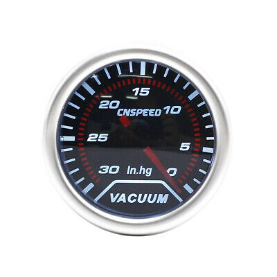 2  52mm Pointer LED Auto Car Vacuum Pressure Gauge 0~30 IN.HG Smoked Tinted 12V • 8.98£
