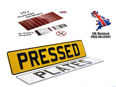 X2 3D Metal Pressed Registration Number Plates, Free Sticky Pads, ROAD LEGAL !!! • 18.99£