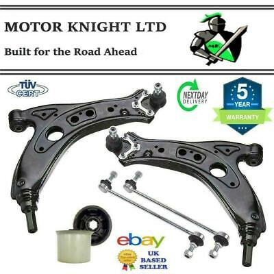 VW POLO Mk4 02-09 FRONT SUSPENSION CONTROL ARMS WISHBONES, BUSHES, LINKS L & R • 54.59£