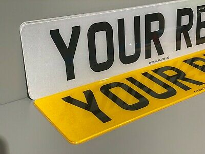Number Plates Front And Rear With Fixings For Car Van Trailer New Legal Reg MOT • 12.99£