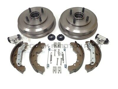 Ford Fusion Rear 2 Brake Drums & Shoes & Kit + 2 Wheel Bearings & 2 Cylinders • 135£