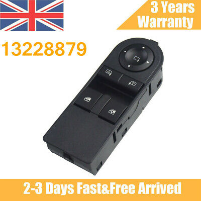 13228879 Electric Window Switch For Vauxhall Astra H / Zafira B Front Door Power • 16.39£