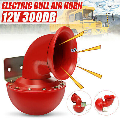 Red Loud 300DB 12V Electric Bull Horn Air Horn Raging Sound Red For Car Truck UK • 10.99£