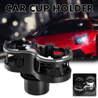 Universal Dual Car Seat Cup Holder Drink Bottles Beverage Seat Mount Stand 2 In1 • 10.19£