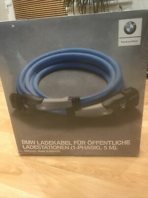 BMW 61902455069 Charging Cable, 1 Phase, 5m, Brand New Factory Sealed • 43£