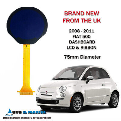 FIAT 500 LCD DISPLAY SCREEN & RIBBON For CLUSTER 2008 To 2011 BRAND NEW IN UK • 84.99£