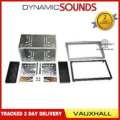 Car Double Din Stereo Facia Fascia Fitting Kit Silver For Vauxhall Corsa • 25.95£