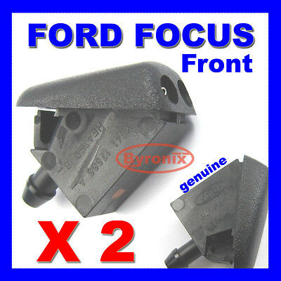 Ford Focus Mk2 & C-max Front Windscreen Washer Jets X 2 Spray Nozzle Genuine • 6.25£